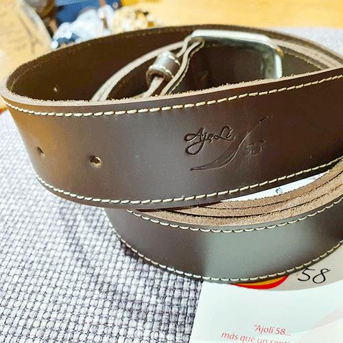 Cinturón piel lisa