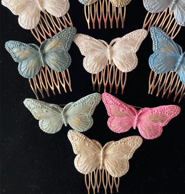 Broches y peinecillos mariposa mujer