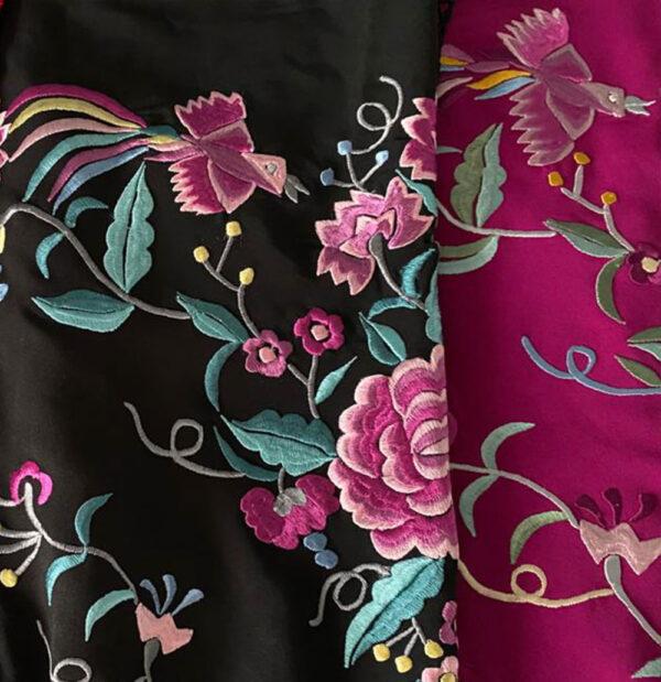 Mantón bordado crespón señora